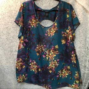 Floral sheer blouse by Torrid - 3X